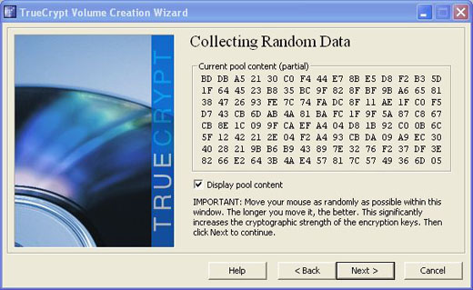 truecrypt random number pool