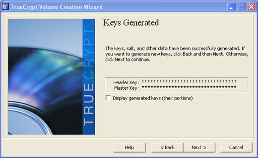 truecrypt generated keys