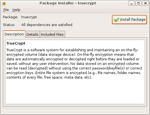 Install TrueCrypt
